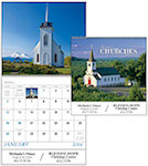 Scenic Churches Spiral Wall Calendars